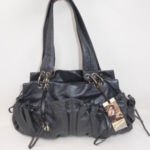 NWT Junior Drake Lamb Leather Satchel Bag